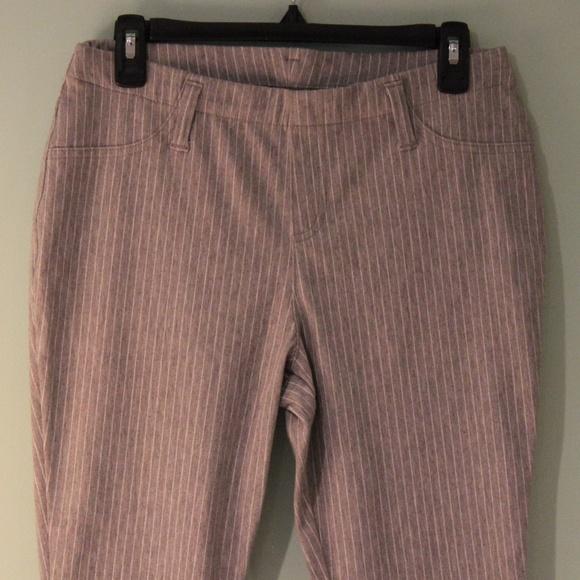 f5db938600b16 Faded Glory Pants | Heather Grey White Stripe Jeggings | Poshmark